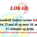 Sundhöll Selfoss lokuð 25.-30.maí vegna viðhalds